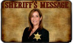 Sheriff's Messege