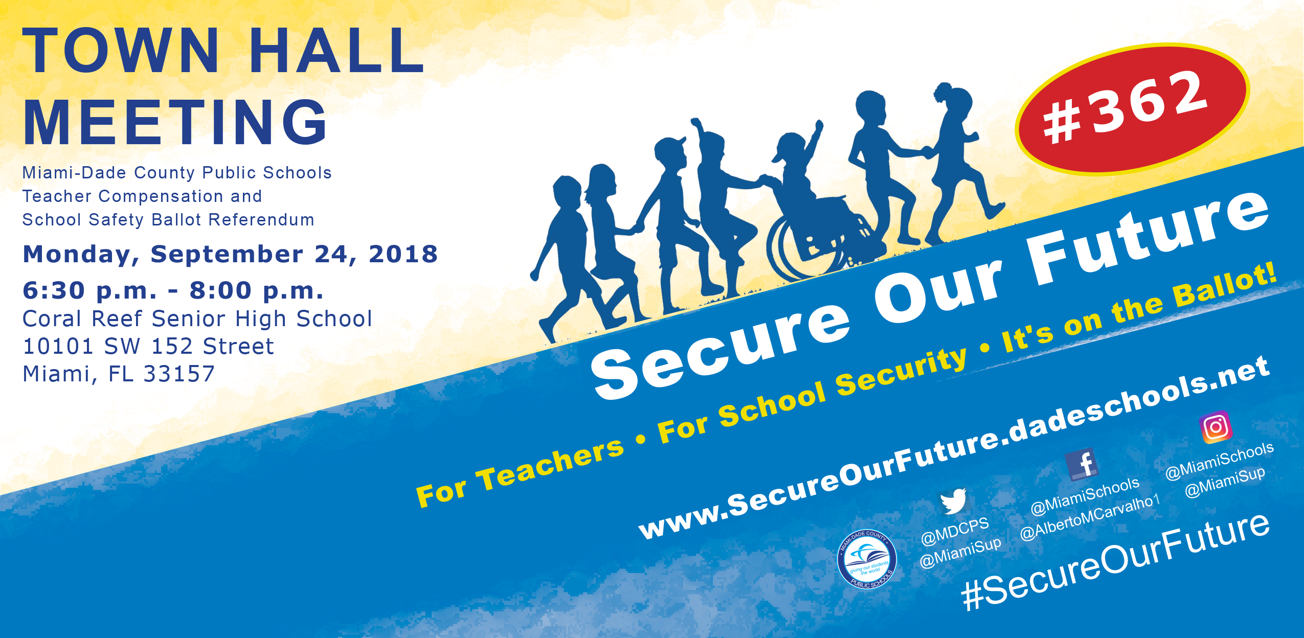 Town Hall Meeting – Secure our Future @ Coral Reef Senior High School