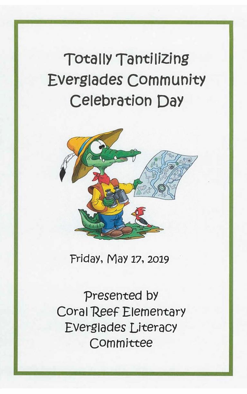Everglades Celebration Day Flyer